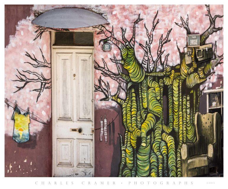 Doorway and Street Art, Valparaíso Chile