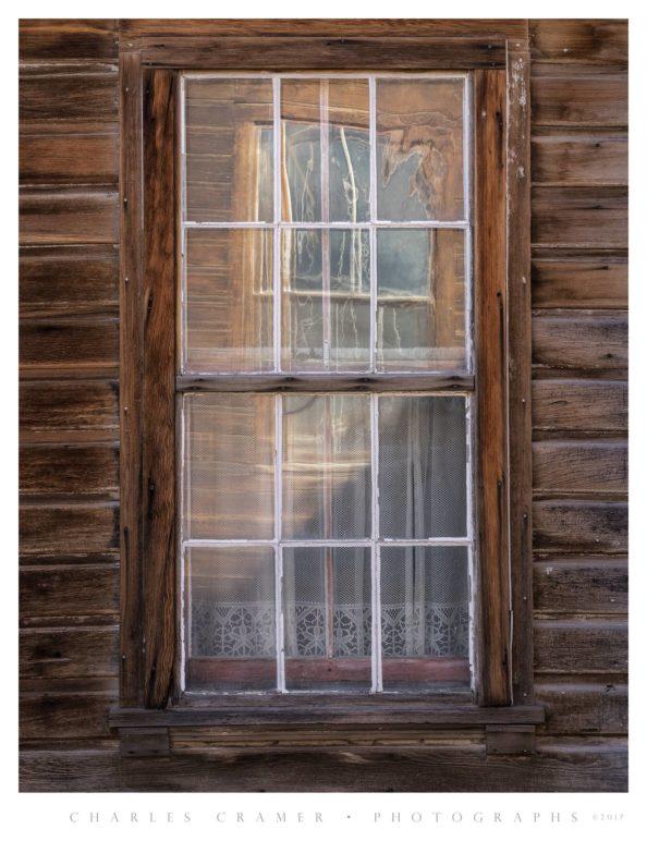 Window Reflection Within Window, Bodie, California