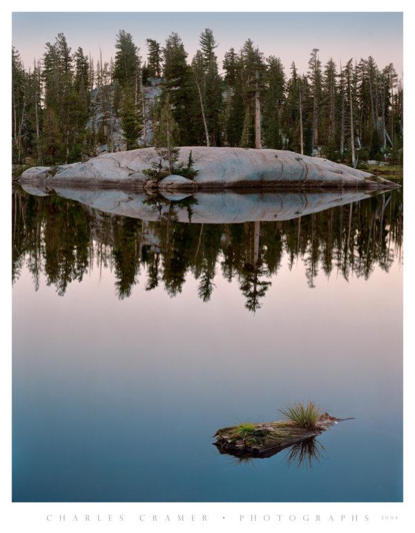 Granite Island, Dawn, Lower Sunrise Lake, Yosemite