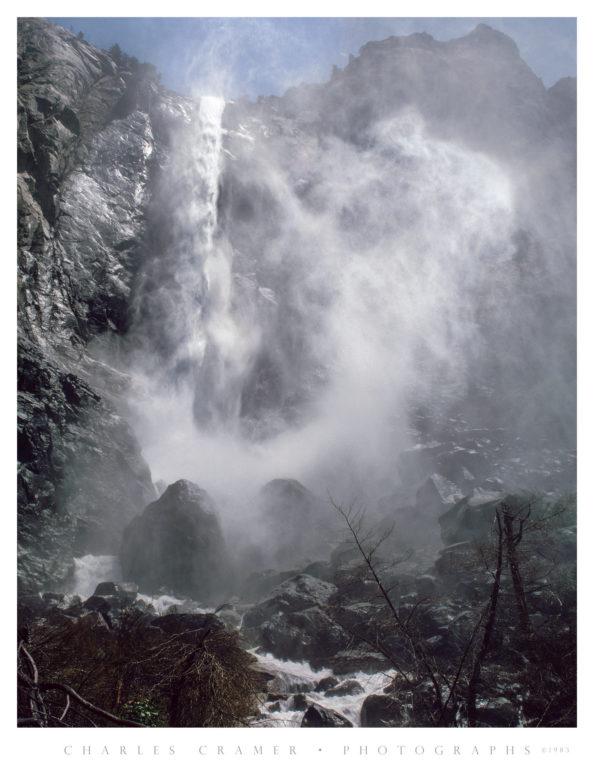 Close Approach, Bridalveil Fall, Spring Flood, Yosemite
