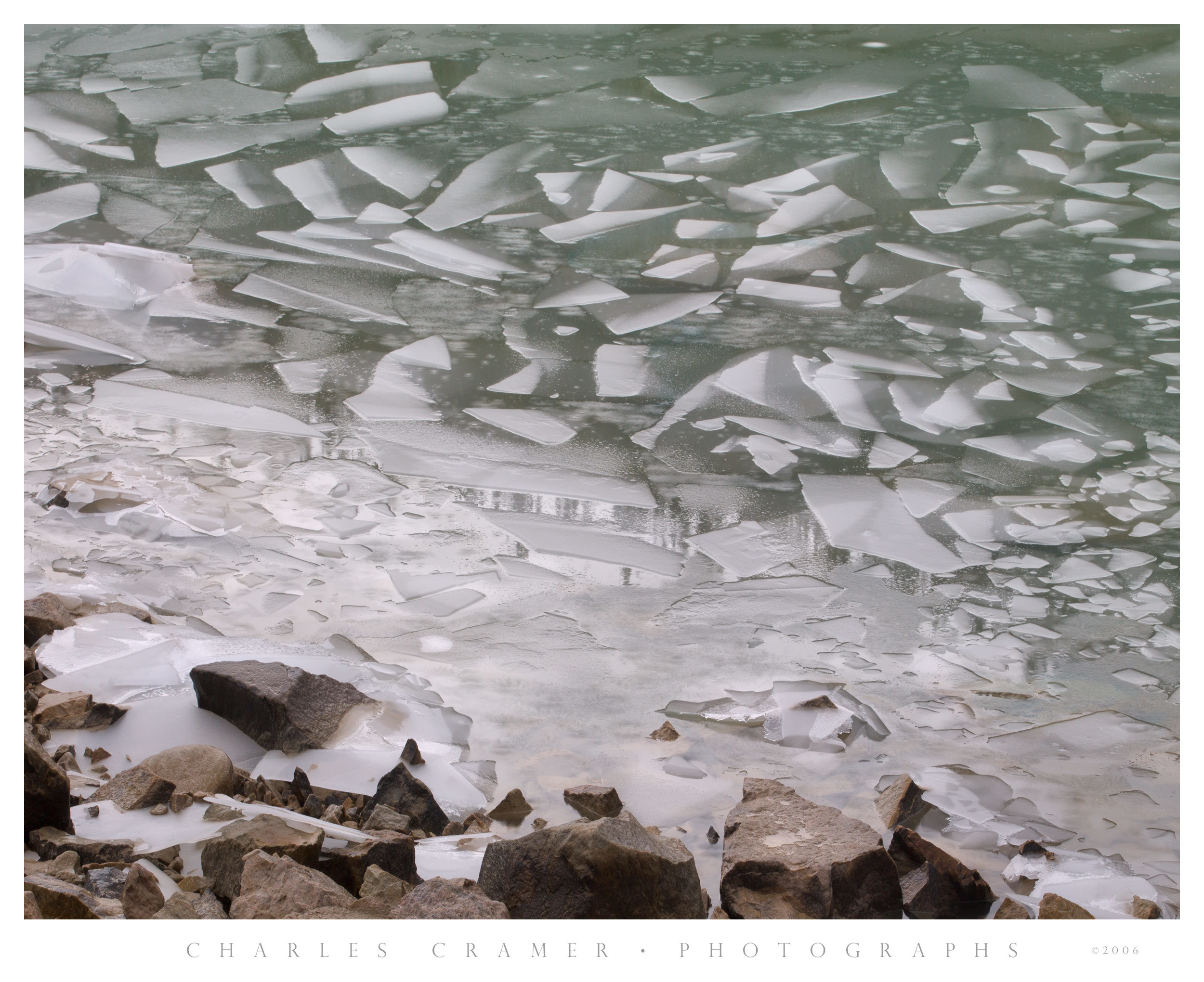 Escher Pattern, Floating Ice, Jasper National Park, Canada