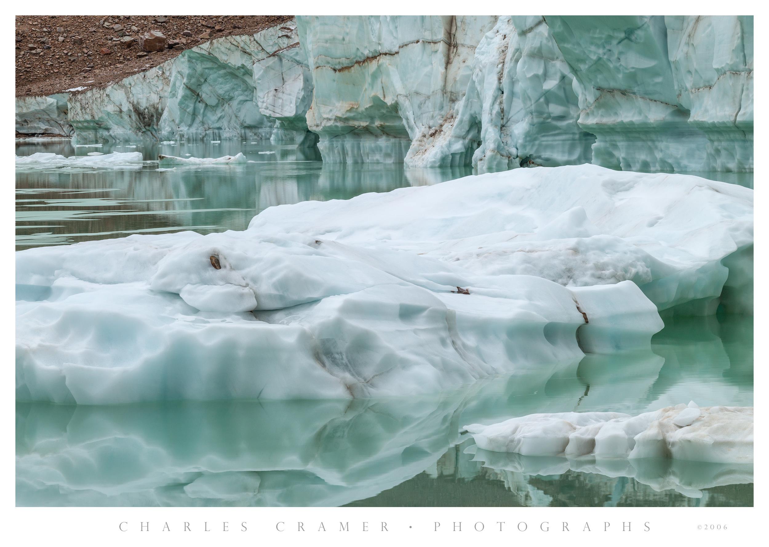 Glacier Edge, Pond, Below Mt. Edith Cavell, Canada