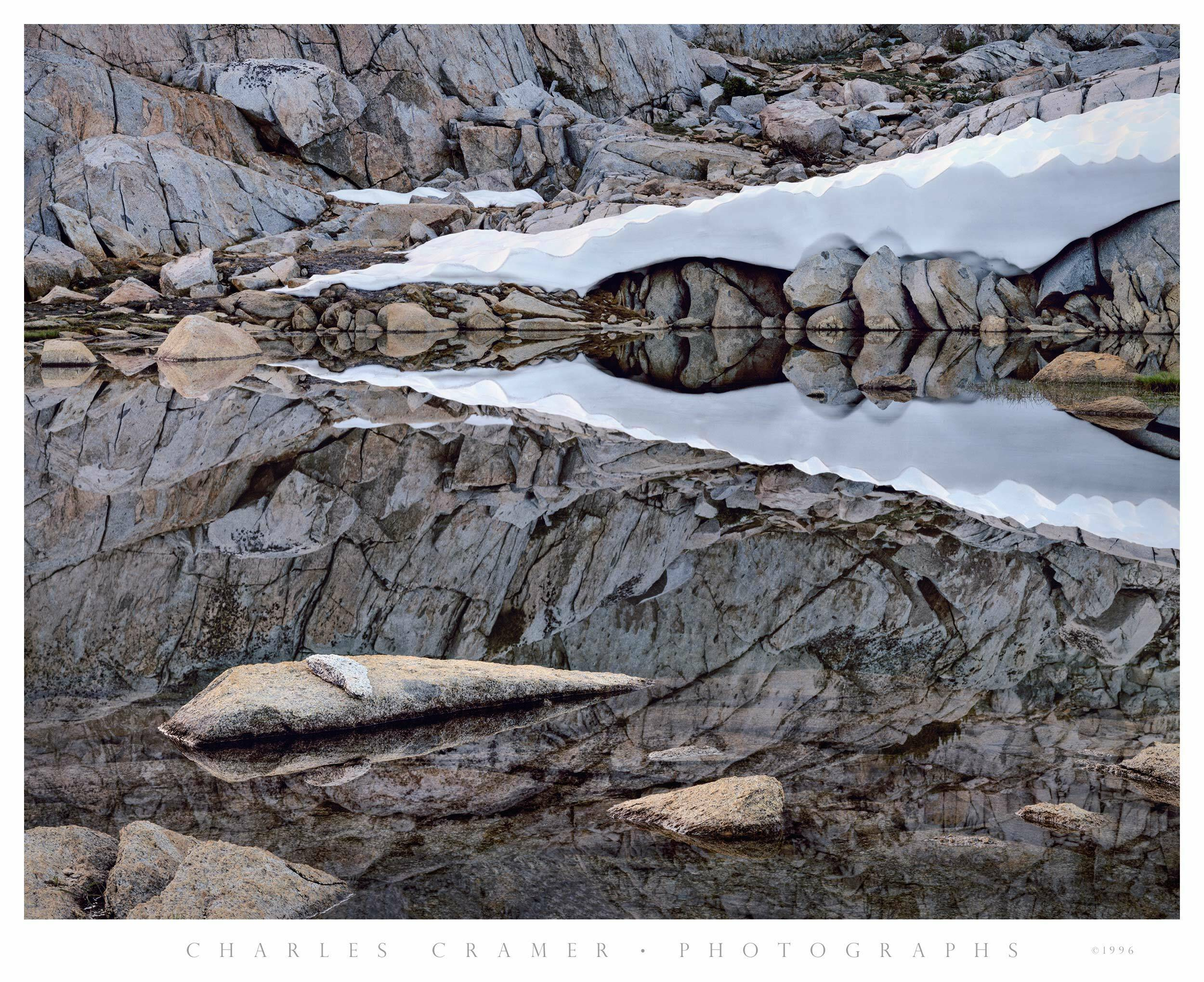 Pond and Snow, Dusy Basin, Kings Canyon