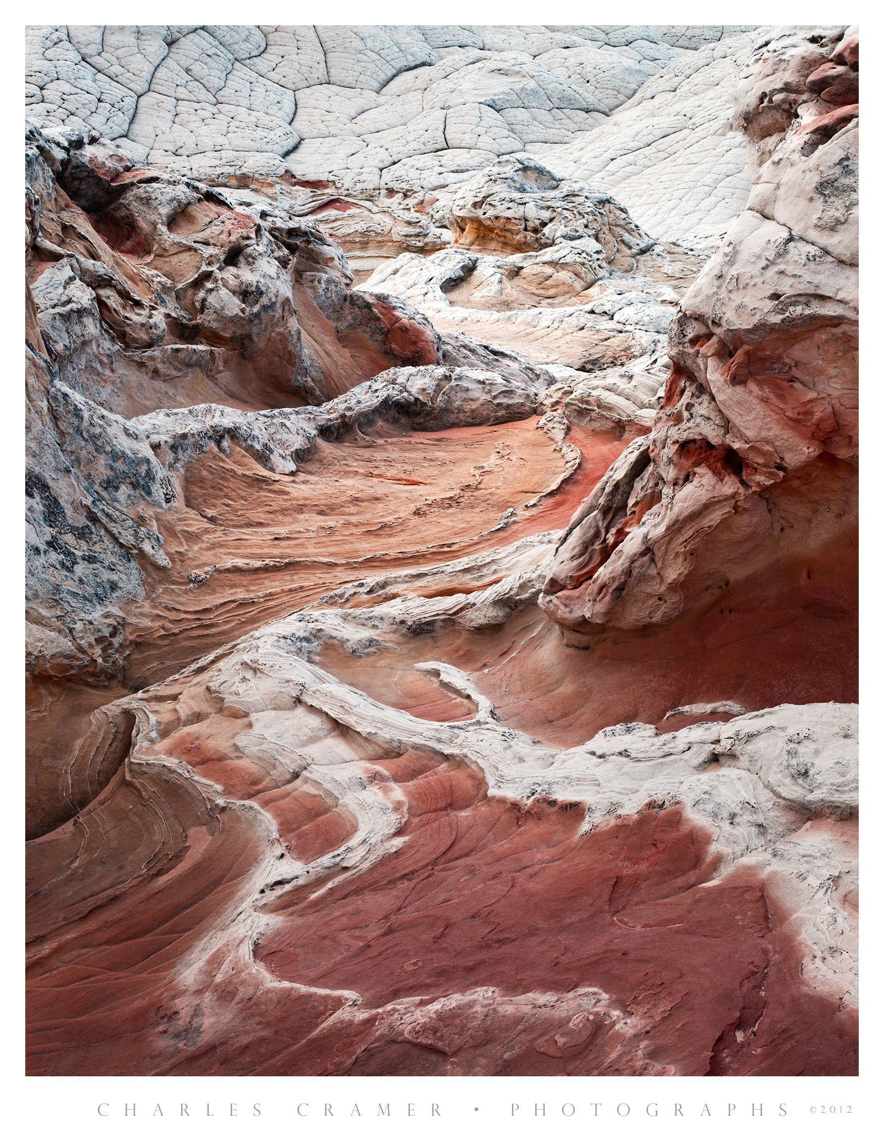 Red and White Sandstone,  Vermilion Cliffs National Monument, Utah