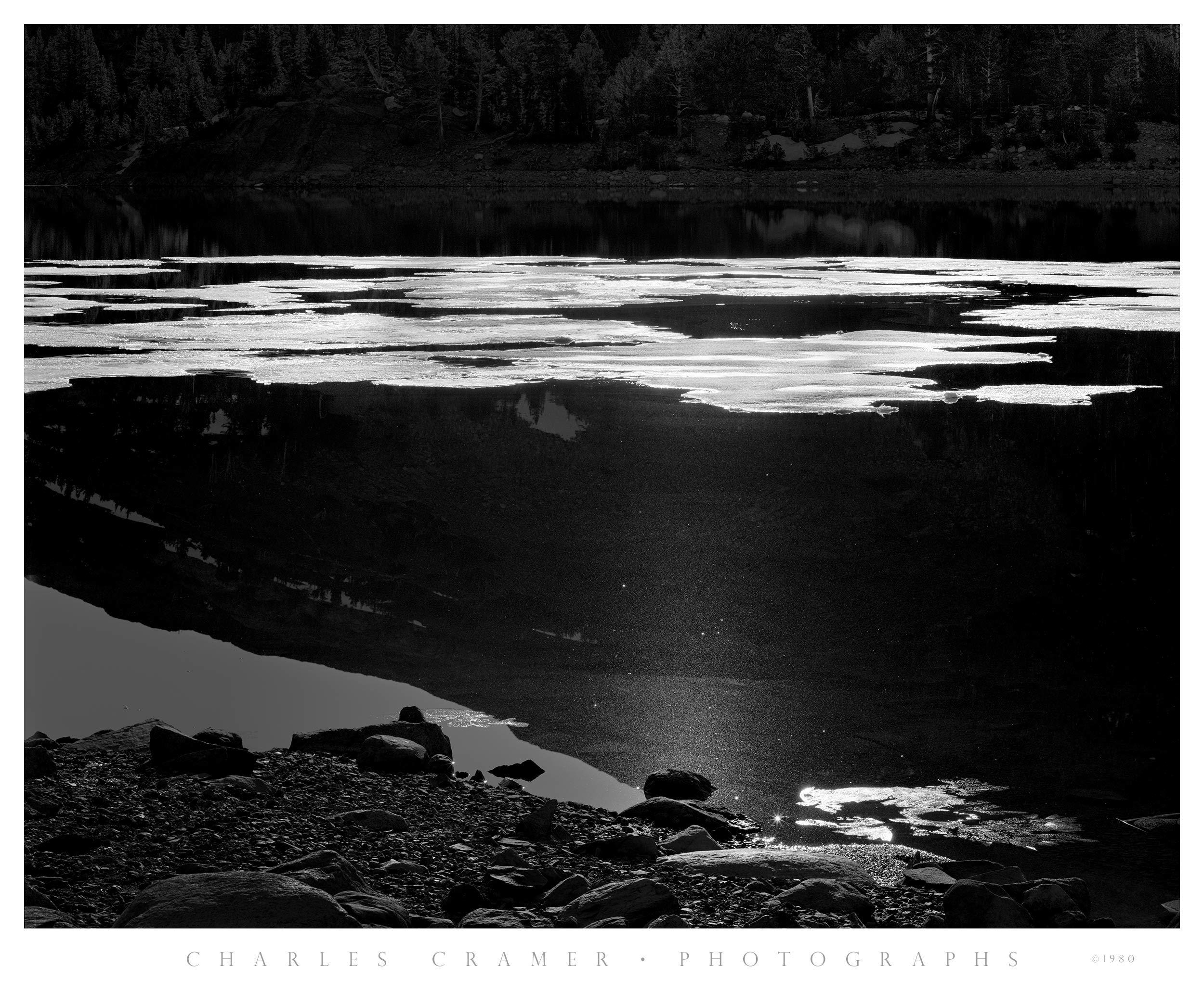 Ice, Tioga Lake, Yosemite