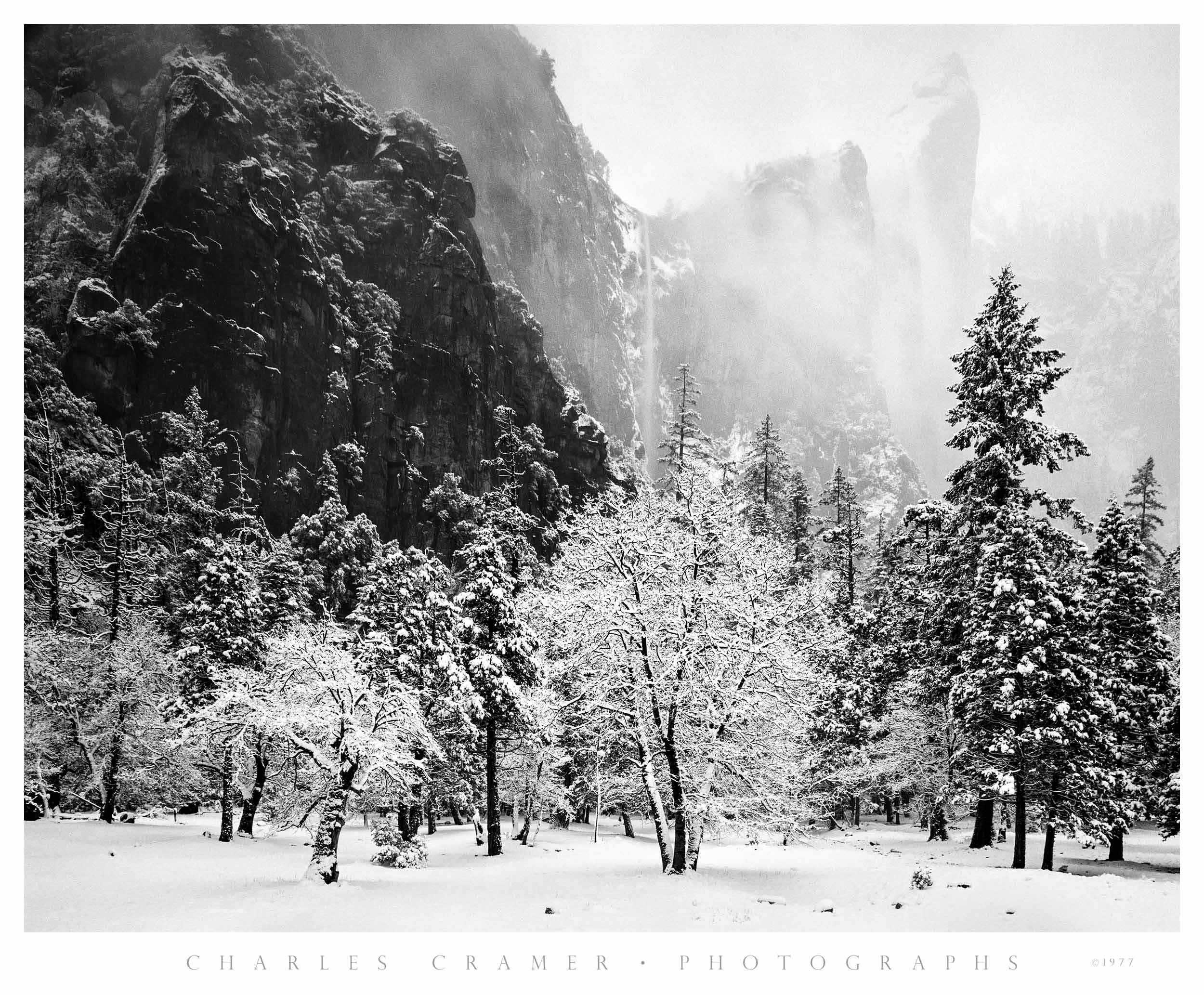 Bridalveil Fall, Snowstorm, Yosemite